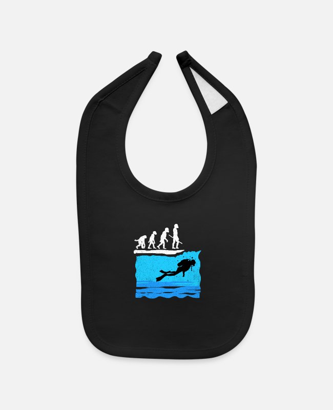 Scuba Diving Baby Bibs - Scuba Diving - Baby Bib black