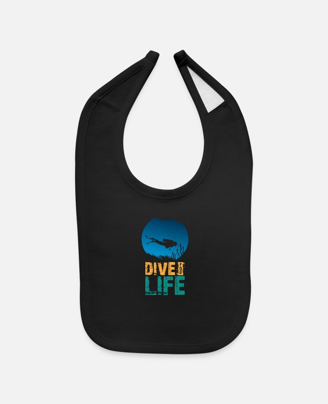 Diver Baby Bibs - Dive for Life Diving - Baby Bib black