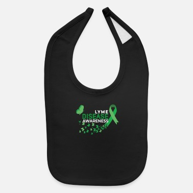 Lyme Disease Awareness Lyme Disease Awareness Green Ribbon Fighter - Baby Bib