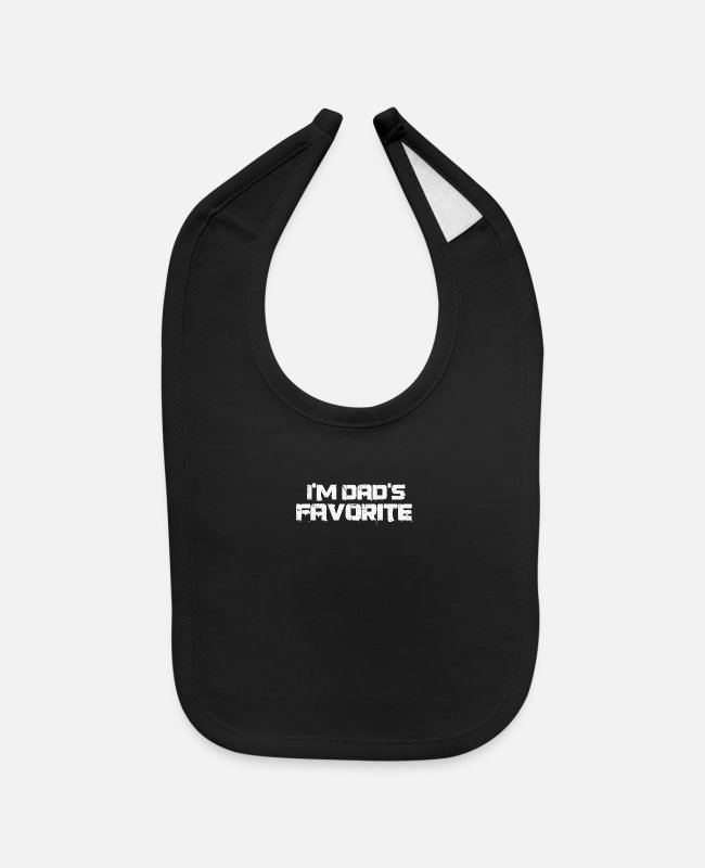 Father's Day Baby Bibs - I'm Dad's Favorite Father's Day - Baby Bib black