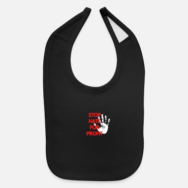 Profit STOP HATE FOR PROFIT - Baby Bib