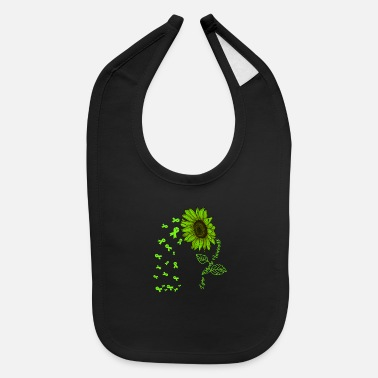 Lyme Disease Awareness Lyme disease Awareness Green Ribbon Sunflower - Baby Bib