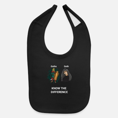 Goth Girl Goth Warrior vs Goth Girl - Baby Bib