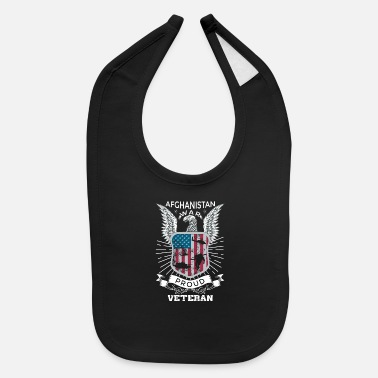 Afghanistan War Veteran Afghanistan War Proud Veteran Gifts For Veterans - Baby Bib