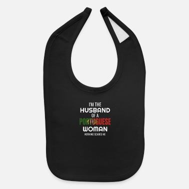 Portuguese Funny Portuguese Gift For Husband Of Portuguese - Baby Bib