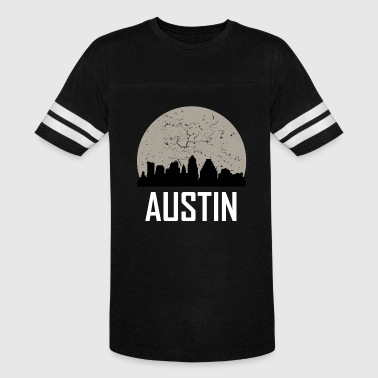 Austin Full Moon Skyline - Vintage Sport T-Shirt