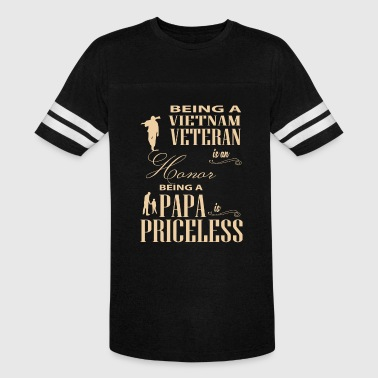 Being A Papa Is Priceless T Shirt - Vintage Sport T-Shirt