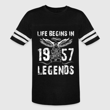 Life Begin In 1957 Legends - Vintage Sport T-Shirt