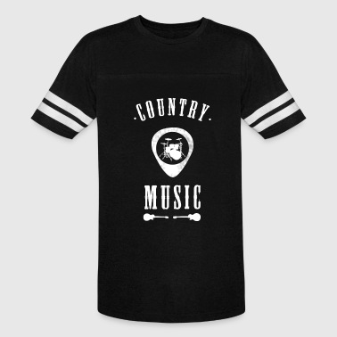 country Music band drums Guitar plectron Rock jazz - Vintage Sport T-Shirt