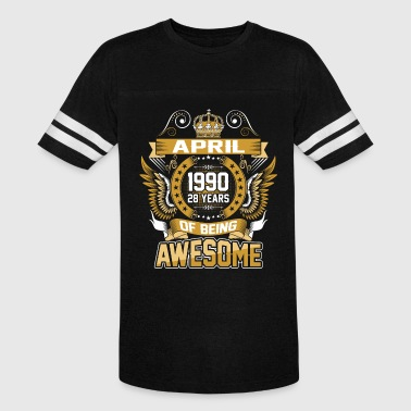 April 1990 28 Years Of Being Awesome - Vintage Sport T-Shirt