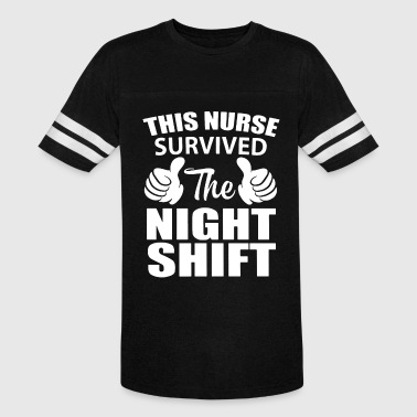 This nurse survived the night shift - Vintage Sport T-Shirt