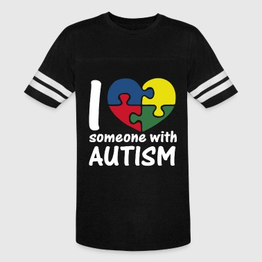 Someone With Autism I Love Someone With Autism - Vintage Sport T-Shirt