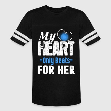 Wrestling Beat My heart only beats for her - Vintage Sport T-Shirt