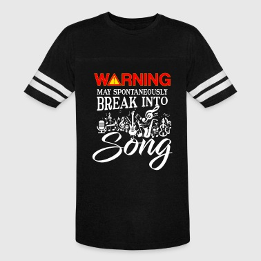 Spontaneously Warning may spontaneously break into Song - Vintage Sport T-Shirt