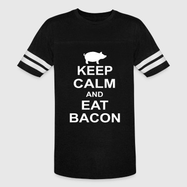 Pig Eating Bacon Keep Calm and Eat Bacon Pig Clearance Pig - Vintage Sport T-Shirt