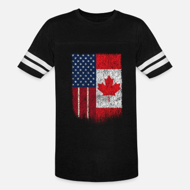 Us And Canada American Canadian Tshirt US Canada Flag Friend Thanks Canada - Vintage Sport T-Shirt
