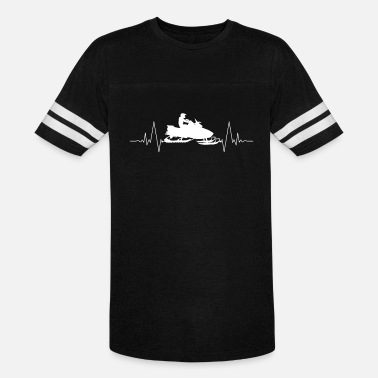 Heart Rate Snowmobile heart love heart rate - Unisex Vintage Sport T-Shirt