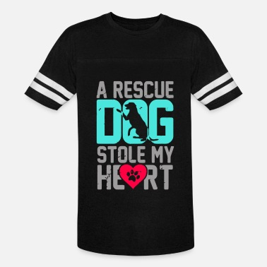 Awesome Dog Rescue Rescue dog It stole my heart awesome - Vintage Sport T-Shirt
