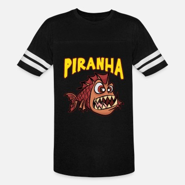 Piranha ANGRY PIRANHA Fish Scarry Red Cartoon Gift - Unisex Vintage Sport T-Shirt