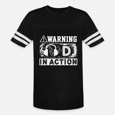 Warning Dj Warning DJ In Action Shirt - Vintage Sport T-Shirt