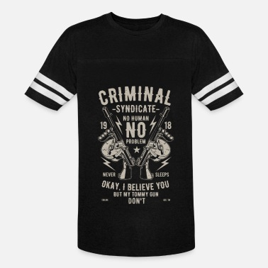 Gang Criminal Old School Criminal - Vintage Sport T-Shirt