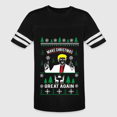 Ugly Christmas Make Christmas Great Again Make Christmas great again ugly christmas sweater - Vintage Sport T-Shirt