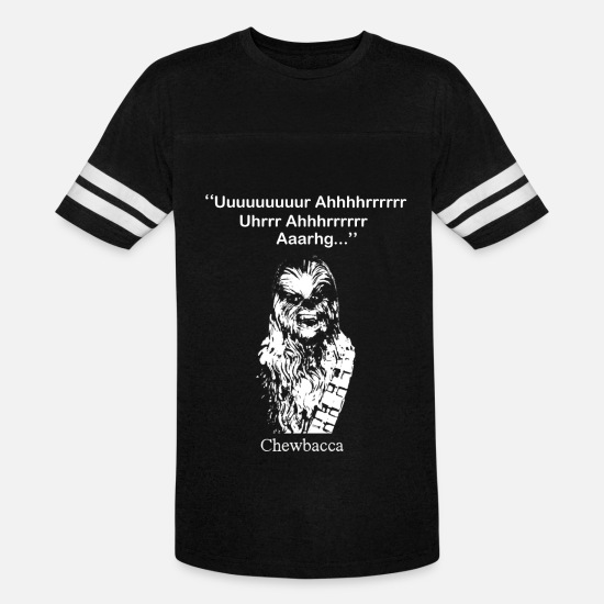 Yoda T-Shirts - Chewbacca T - shirt - Star Wars fan - Unisex Vintage Sport T-Shirt black/white