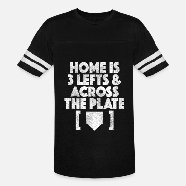 Baseball Home Plate Baseball Home Is 3 Lefts & Across The Plate - Vintage Sport T-Shirt