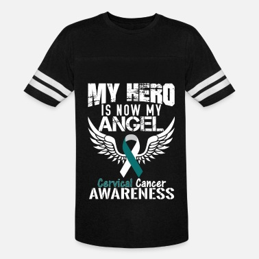Cervical Cancer Ribbon Cervical Cancer Awareness - Vintage Sport T-Shirt