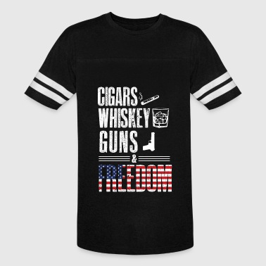 American Whiskey Cigars Whiskey Guns & Freedom - For Americans - Vintage Sport T-Shirt