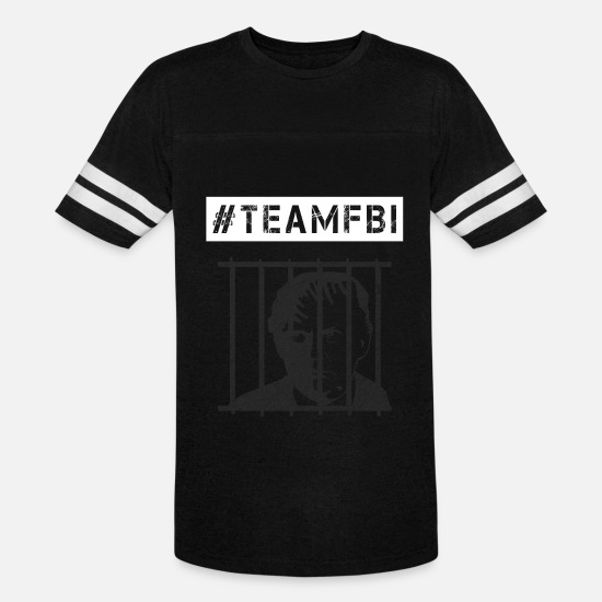 Injustice T-Shirts - Team FBI Anti-Trump #TeamFBI #Resist #Resistance - Unisex Vintage Sport T-Shirt black/white