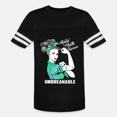 Brain Mental Health Mental Health Warrior Unbreakable - Vintage Sport T-Shirt