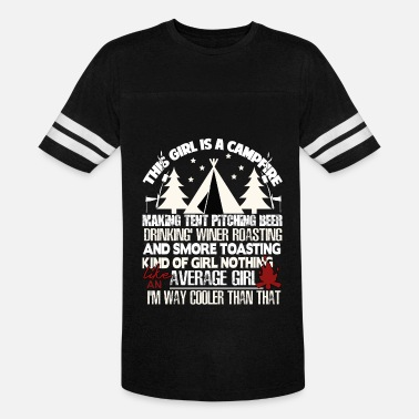Hiker This Girl Is A Campfire Making Tent T Shirt - Vintage Sport T-Shirt
