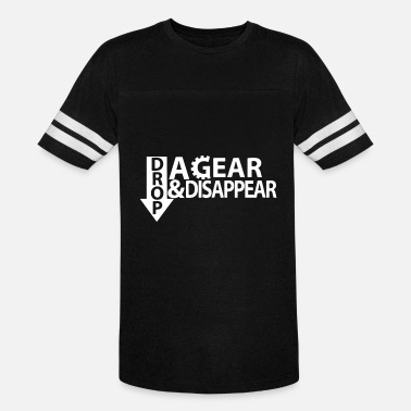 Gear Drop A Gear And Disappear T Shirt Graphic Tee Bike - Unisex Vintage Sport T-Shirt