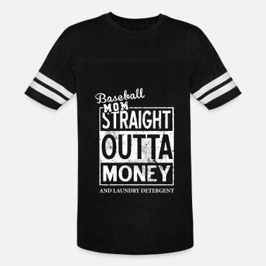 Milf Money Baseball mom straight outta money and laundry dete - Vintage Sport T-Shirt