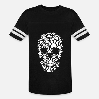 81cfdd8f4 Paw dog prints skull - Unisex Vintage Sport T-Shirt