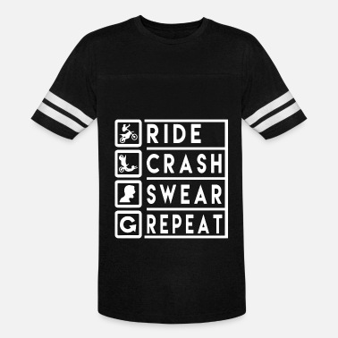 Crash Ride ride crash swear repeat biker - Unisex Vintage Sport T-Shirt