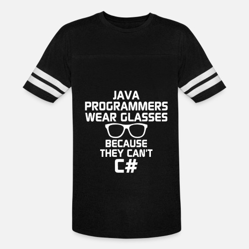 d84d18c6335 Unisex Vintage Sport T-ShirtJava Programmers Wear Glasses Because They Can  t C