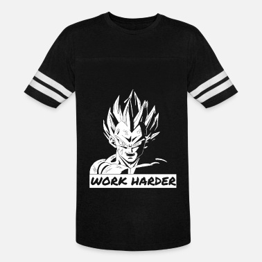 23cf634c7aa275 Work Harder Motivational Dragon Ball Z Vegeta Dbz - Unisex Vintage Sport T- Shirt