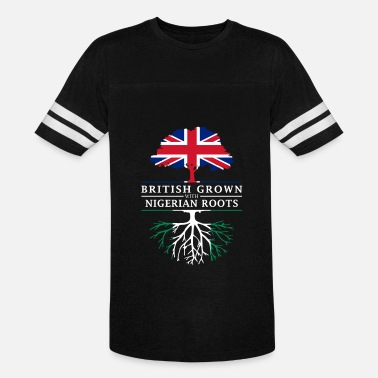 Nigerian Design British Grown with Nigerian Roots Nigeria Design - Vintage Sport T-Shirt