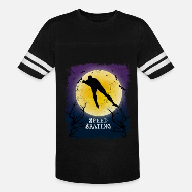 Speed Art Speed Skating Halloween Vintage Art Speed Skater - Unisex Vintage Sport T-Shirt