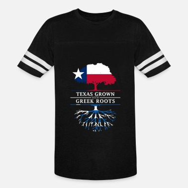 Greek Heritage Texan Grown with Greek Roots - Vintage Sport T-Shirt