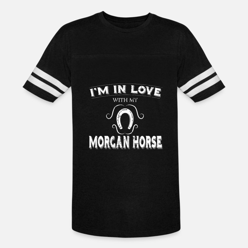 Morgan T-Shirts - Anti Valentines Love Morgan Horse - Unisex Vintage Sport T-Shirt black/white
