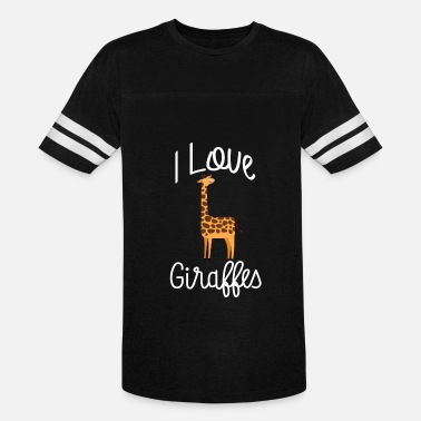 Kid Friendly I Love Giraffes Cute Giraffe Kid Friendly - Vintage Sport T-Shirt
