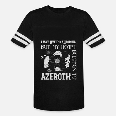 Wow Alliance My heart belongs to Azeroth - Vintage Sport T-Shirt