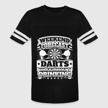 Weekend Forecast Darts Drinking Tee - Vintage Sport T-Shirt