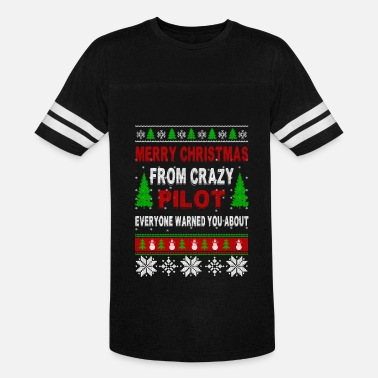 Pilot Christmas Merry Christmas From Crazy Pilot - Vintage Sport T-Shirt
