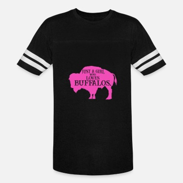 Funny North Dakota Just A Girl Who Loves Buffalos Pink, Buffalo Women, Bison Women, Bison Gift - Vintage Sport T-Shirt