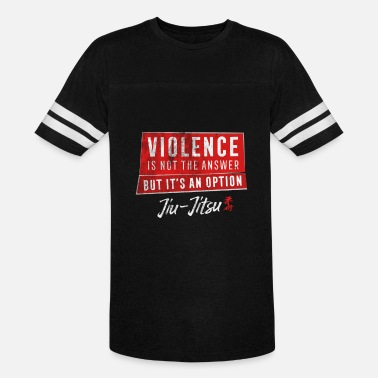 Violence Is The Answer Jiu Jitsu Violence Not The Answer Jujitsu BJJ Gift Light - Vintage Sport T-Shirt