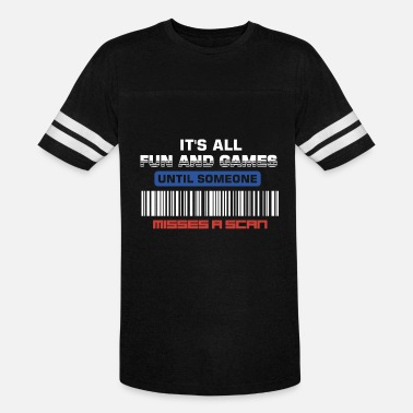 Post Office it's all fun and games funny post misses a scan - Vintage Sport T-Shirt